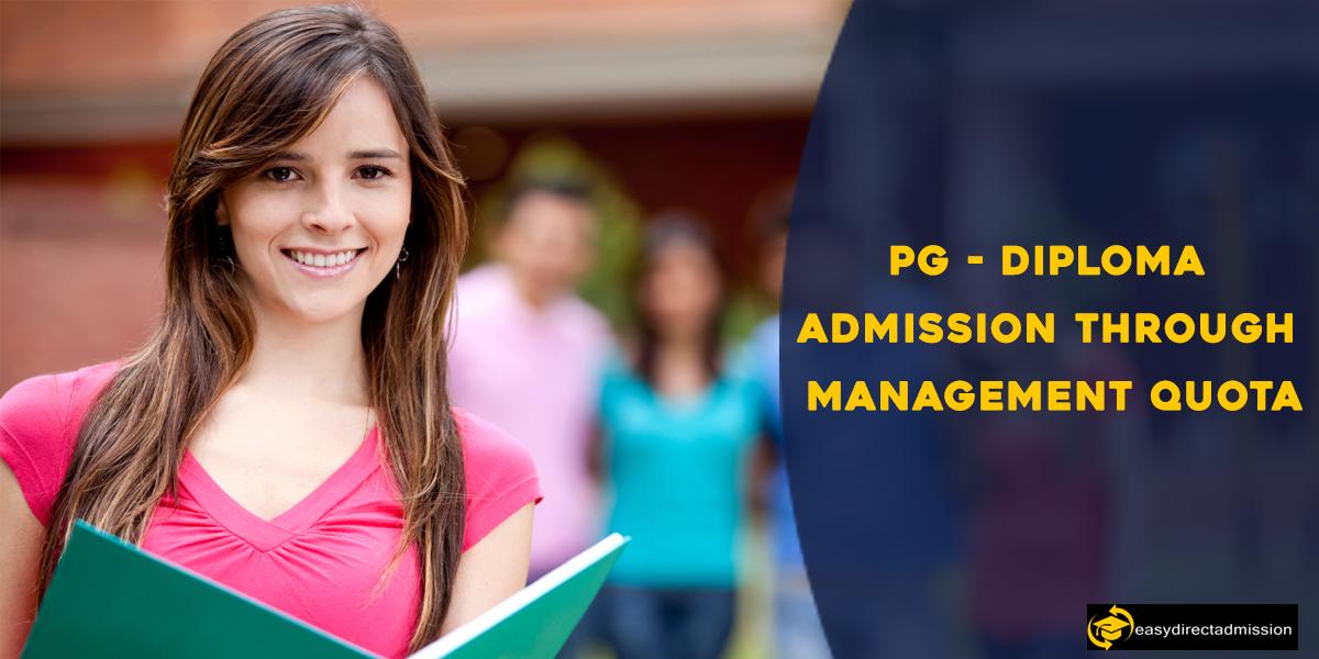 PG-Diploma admission through management quota
